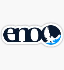 Blue Striped Eno Sticker