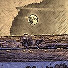 Moon over Leicestershire by bywhacky