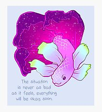 """Everything Will Be Okay Soon"" Galaxy Betta Fish Photographic Print"