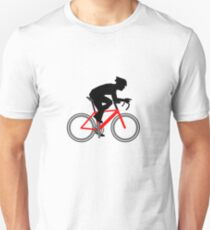 Cycling TShirt Cyclist with red bike T-Shirt
