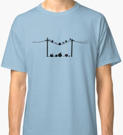 Angry Birds on a wire Classic T-Shirt