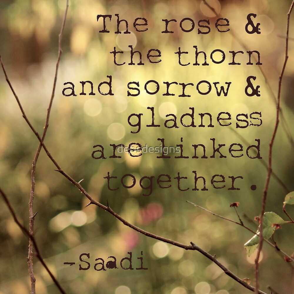 The Rose & the Thorn and Sorrow & Gladness are Linked Together by debsdesigns