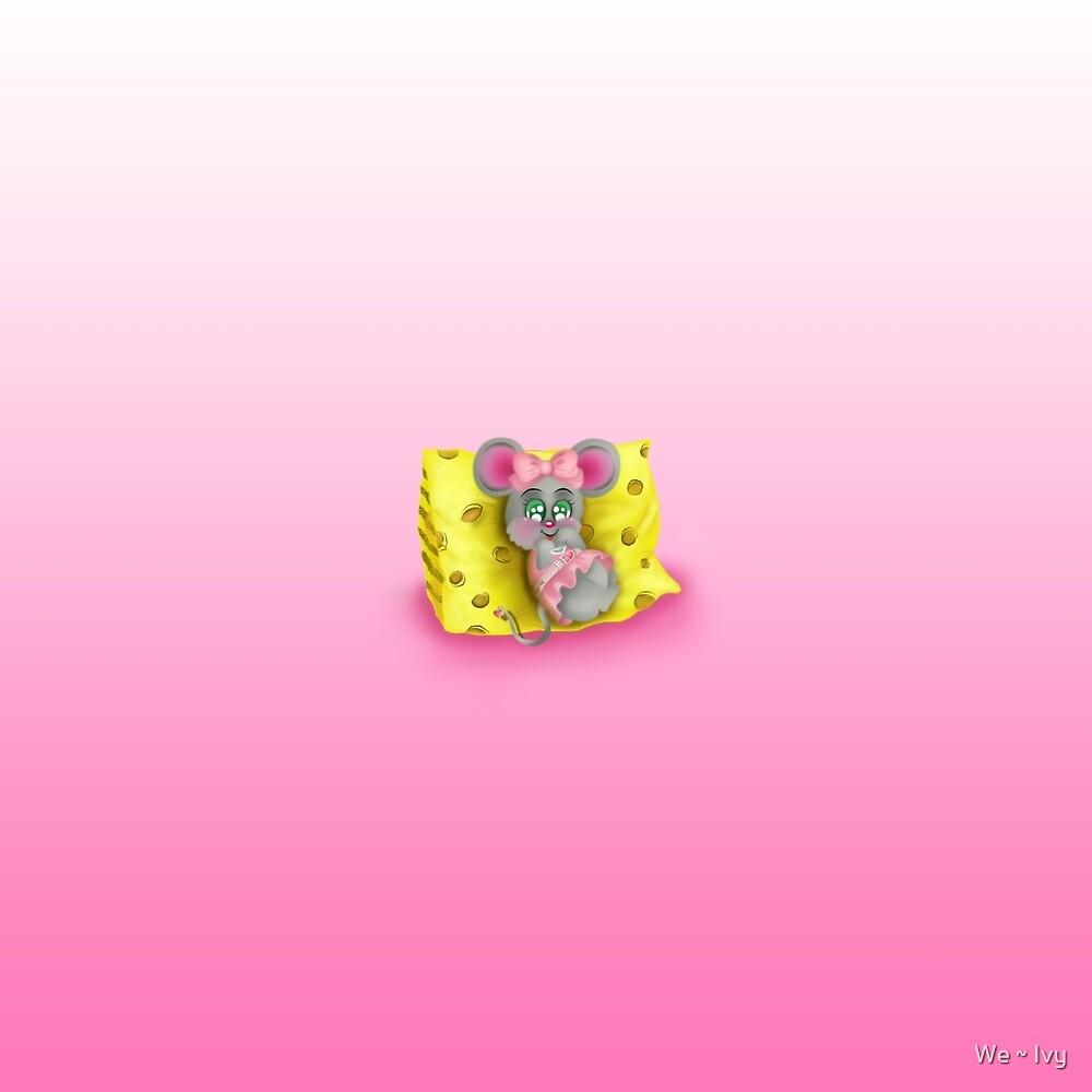 Tiny Sweet Mice on a Tiny Cheesy Pillow by We ~ Ivy