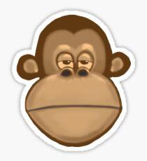 Meh Monkey Sticker