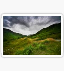 Storm Over Harrison Stickle, English Lakes.. Sticker