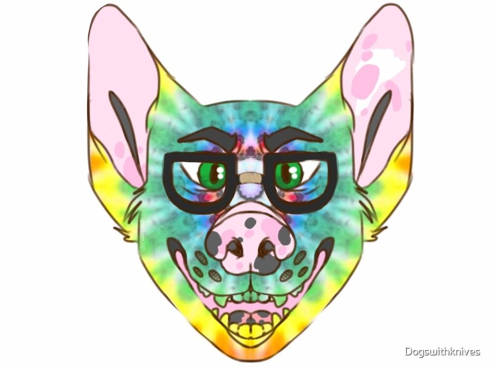 Tie dye dog by Dogswithknives