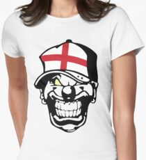 England Horror Clown Love Hate Womens Fitted T-Shirt