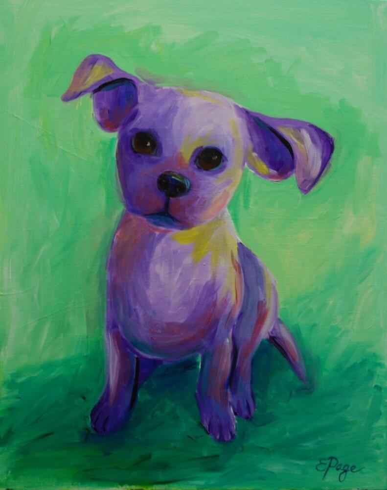 Purple Puppy by emilypageart