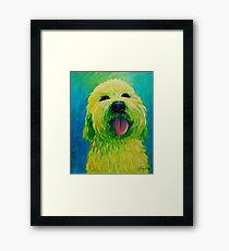 Shaggy Dog in Yellow Framed Print