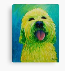 Shaggy Dog in Yellow Canvas Print