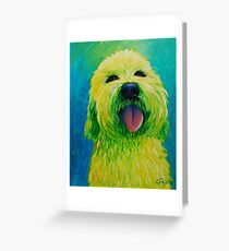 Shaggy Dog in Yellow Greeting Card