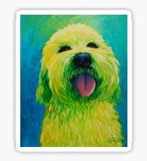 Shaggy Dog in Yellow Sticker