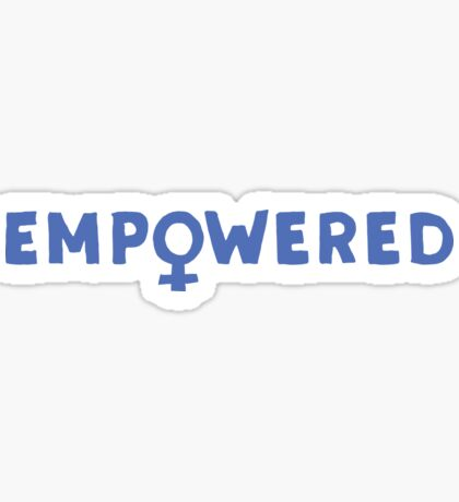 EMPOWERED – blue Sticker