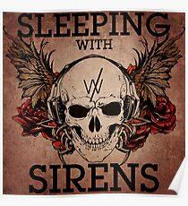 Sleeping With Sirens - Grunge Skull Poster