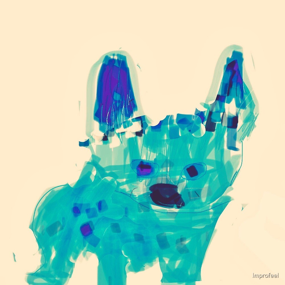 Little blue dog  by Improfeel
