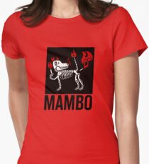 MAMBO FARTING DOG Women's Fitted T-Shirt