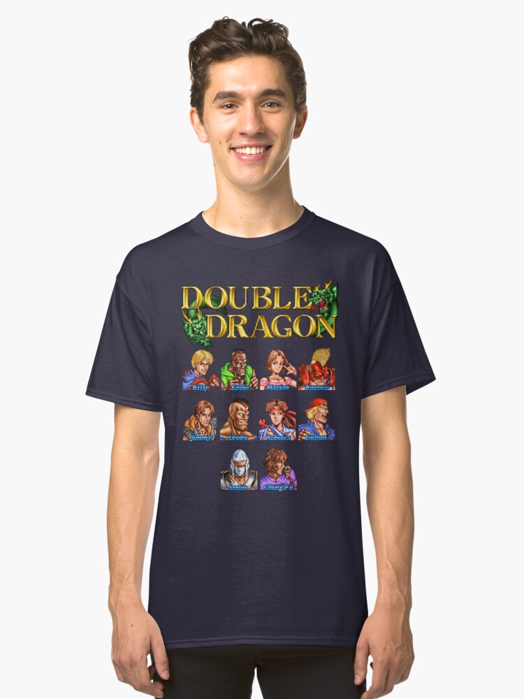 Double Dragon (Neo Geo Character Lineup) Classic T-Shirt Front