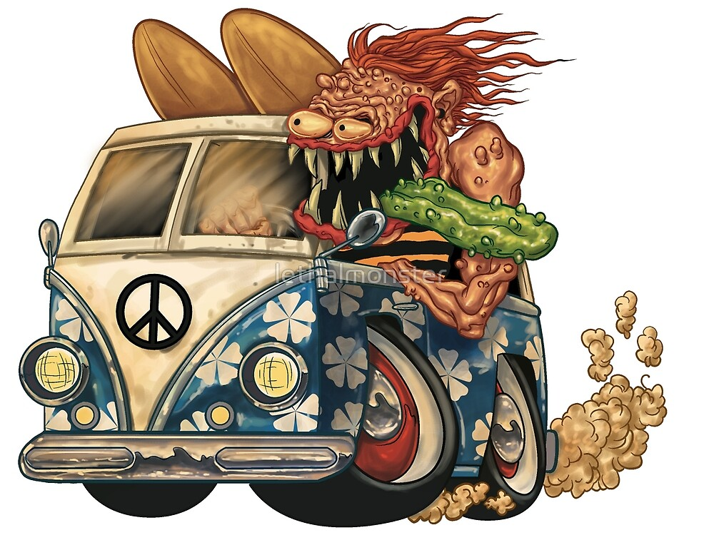 hippy ride surf monster by lethalmonster