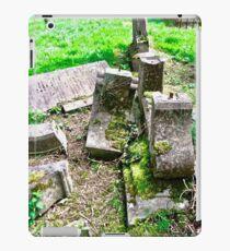 Fallen gravestones, Drumcliff Cemetery, Sligo, Ireland iPad Case/Skin