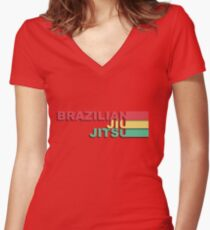 Brazilian Jiu-Jitsu Women's Fitted V-Neck T-Shirt