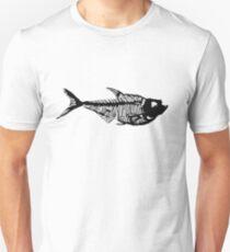 Fossil fish linocut Unisex T-Shirt