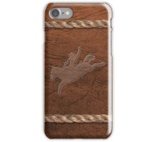 Rodeo Theme - Bucking Bronc, Leather & Rope iPhone Case/Skin
