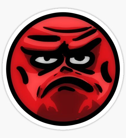 Angry Face Sticker