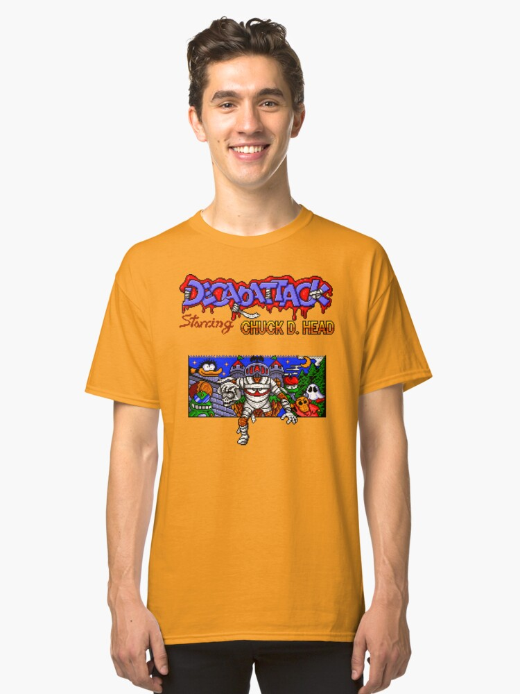 Decap Attack (Genesis Title Screen) Classic T-Shirt Front