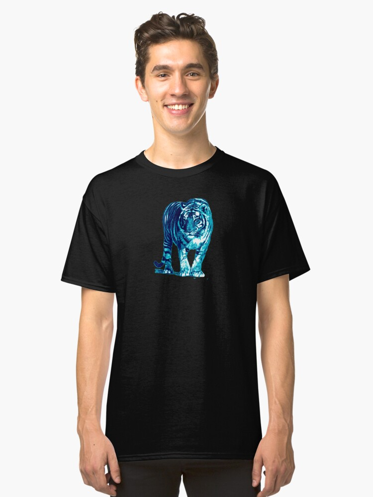 Blue Tiger Classic T-Shirt Front