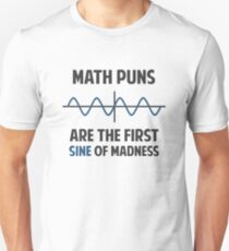 Math Puns First Sine of Madness Slim Fit T-Shirt