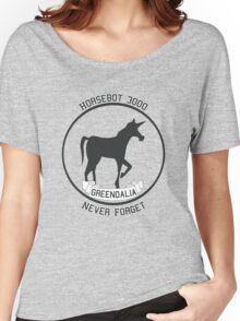 Horsebot 3000 Never Forget  Women's Relaxed Fit T-Shirt