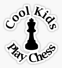 Pegatina Cool Kids Play Chess - Amante del ajedrez - King Queen Check Mate