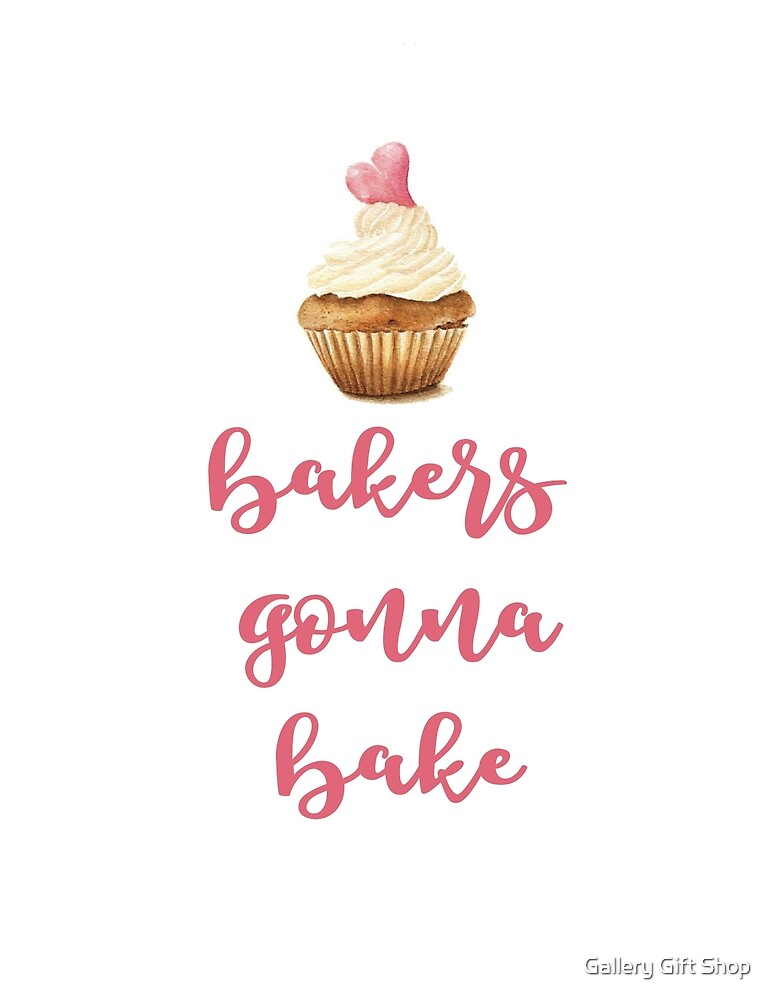 Bakers Gonna Bake Watercolor Print by paper coat paper co.