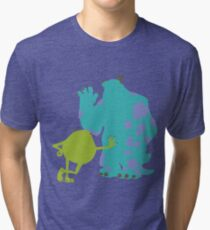 Mike Wazowski and James P. Sullivan (Mike and Sulley) - Monsters Inc Tri-blend T-Shirt