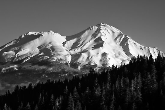Mount Shasta photograph in Black and White by MarniePatchett
