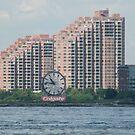 Classic Colgate Clock, Jersey City, Manhattan View by lenspiro