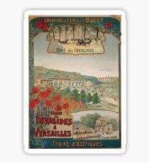 Gustave Fraipont Affiche Ouest Invalides Versailles Sticker