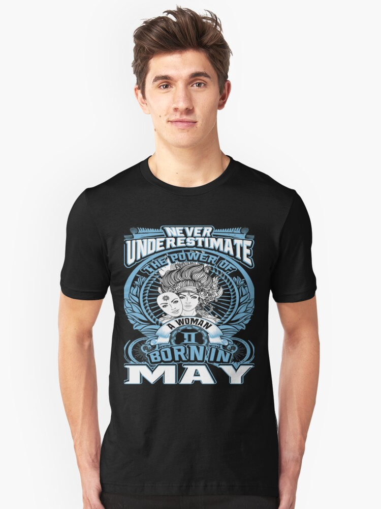 Born in May  Unisex T-Shirt Front