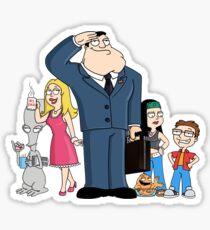 american dad Sticker