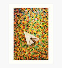 Paper Airplane 73 Art Print