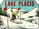 Ski Lake Placid New York Vintage Travel Decal by hilda74
