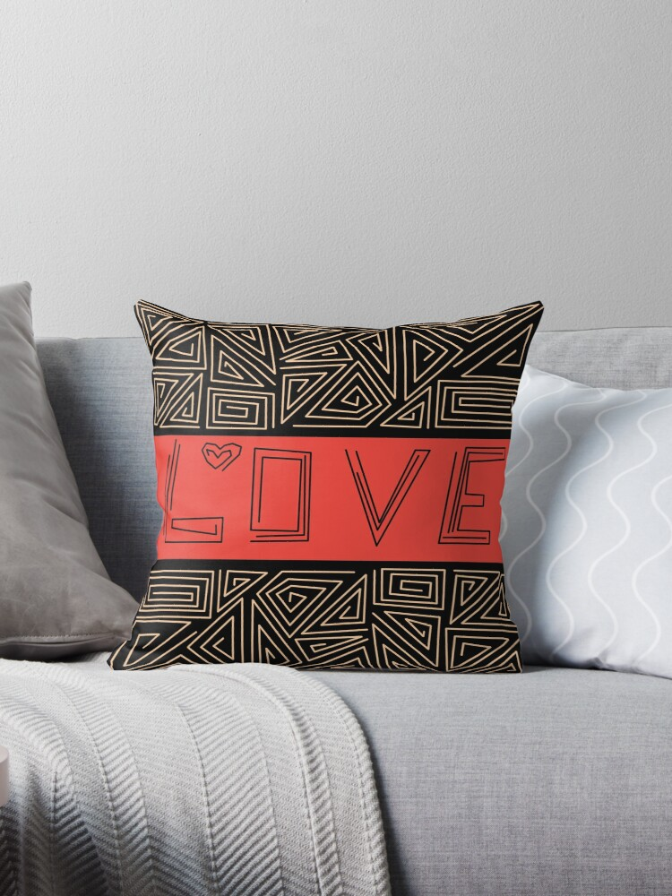 Black and red abstract pattern . Love by fuzzyfox