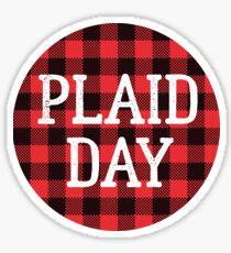 Plaid is the New Black Sticker