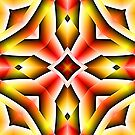 Red Orange And Yellow Abstract 03 by Ruth Moratz