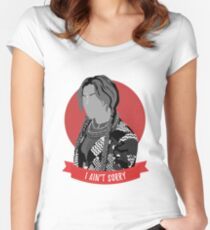 i ain't sorry Women's Fitted Scoop T-Shirt
