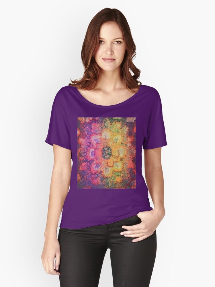Bohemian Flower Women's Relaxed Fit T-Shirt Front