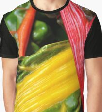 Colourful Greens Graphic T-Shirt