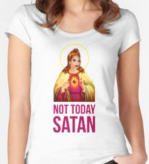 Bianca Del Rio Not Today Satan - Rupaul's Drag Race Women's Fitted Scoop T-Shirt