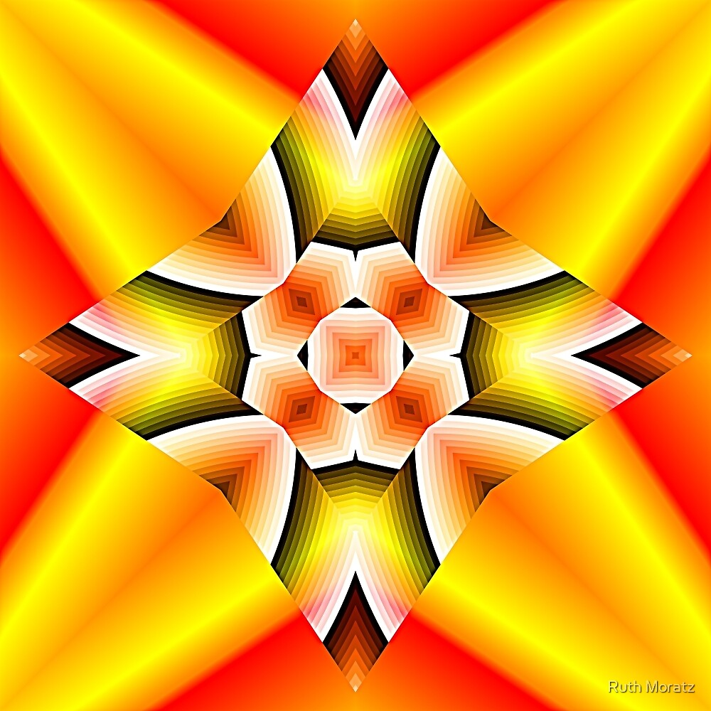 Red Orange And Yellow Abstract 01 by Ruth Moratz
