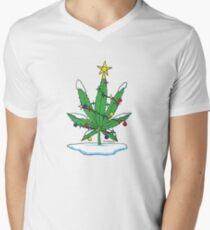 Alternative Holiday Tree Tee Mens V-Neck T-Shirt